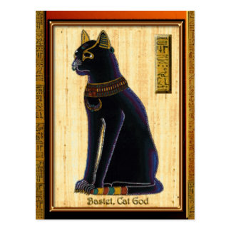 BASTET ~ Egyptian Cat God Historic Art Postcard