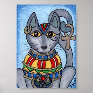 Bastet Eygptian Cat Goddess Mini Folk Art Poster