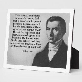 Bastiat Finer Clay Quote Photo Plaques