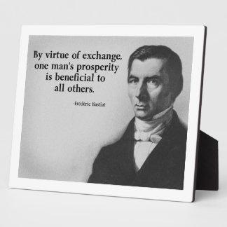 Bastiat Free Trade Quote Plaque