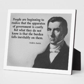 Bastiat Government Quote Photo Plaque