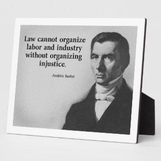 Bastiat Labor Quote Plaque