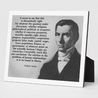 Bastiat Liberty Plaque