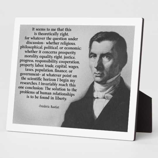 Bastiat Liberty Plaque