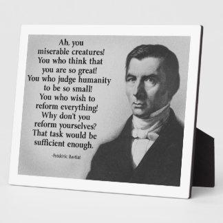 Bastiat Reform Display Plaque