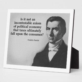 Bastiat Taxes Quote Plaques