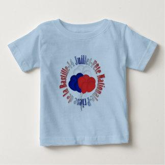 Bastille Day Balloons Baby Light Blue T-Shirt