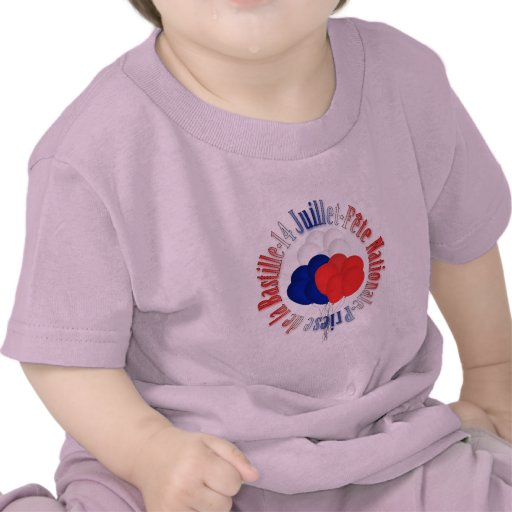 Bastille Day Balloons Baby Pink T-Shirt