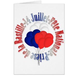 Bastille Day Balloons Card Template