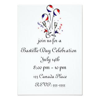 Bastille Day Balloons Invitation
