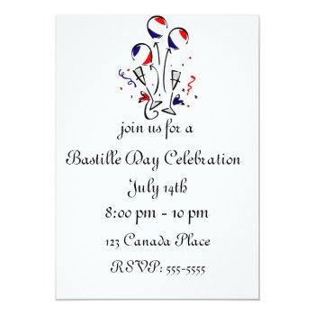Bastille Day Balloons Invitation by HolidayBug at Zazzle