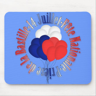 Bastille Day Balloons Mousepad