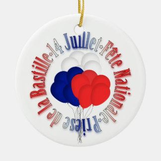 Bastille Day Balloons Ornament