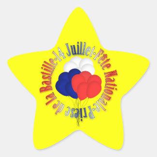 Bastille Day Balloons Star Sticker