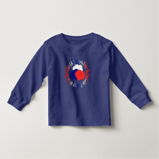 Bastille Day Balloons Toddle Blue Long Sleeve Tee