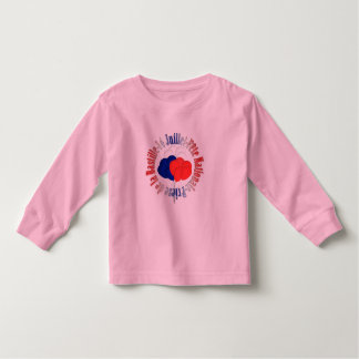 Bastille Day Balloons Toddler Pink Long Sleeve Tee