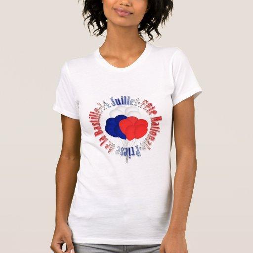 Bastille Day Balloons Women Destroyed T-Shirt
