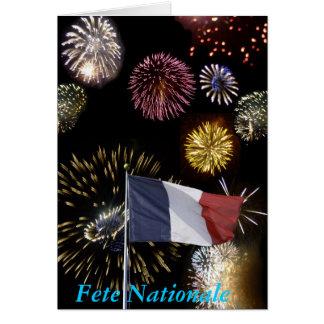 Bastille day greeting card