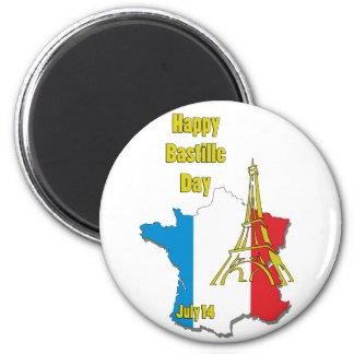 Bastille Day July 14 2 Inch Round Magnet