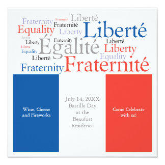 Bastille Day July 14 French Theme Party Card