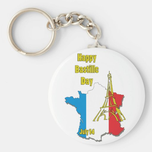 Bastille Day July 14 Key Chain