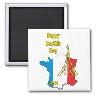 Bastille Day July 14 Magnet