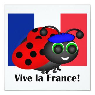 Bastille Day Ladybug Invitation