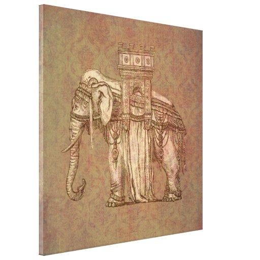 Bastille del elefante del vintage lienzo envuelto para galerias