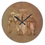 Bastille del elefante del vintage relojes de pared