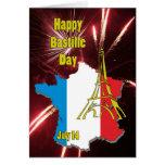Bastille día 14 de julio felicitacion