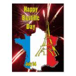 Bastille día 14 de julio tarjetas postales