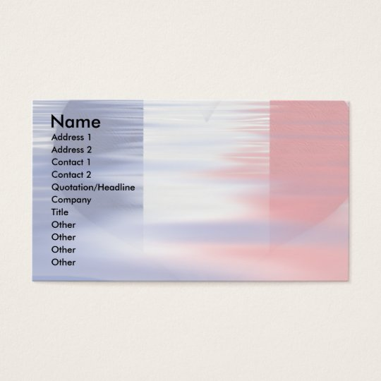 Bastille Freedom Heart Business Card
