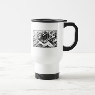 Bastille - street map travel mug