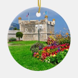 Bastión de Menton en Francia Ornamento Para Reyes Magos