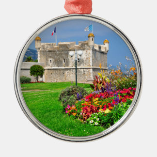 Bastion of Menton in France Metal Ornament