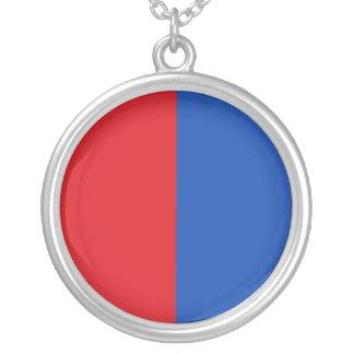 Bastogne, Belgium flag Silver Plated Necklace