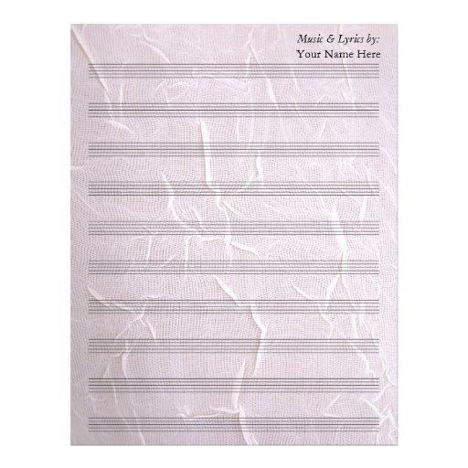 Bastón arrugado rosa de la partitura 10 del espaci membrete a diseño