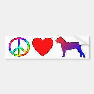 Bastón Corsos del amor de la paz Pegatina Para Auto