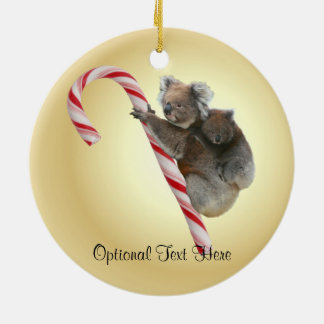 Bastón de caramelo australiano del navidad de la adorno navideño redondo de cerámica