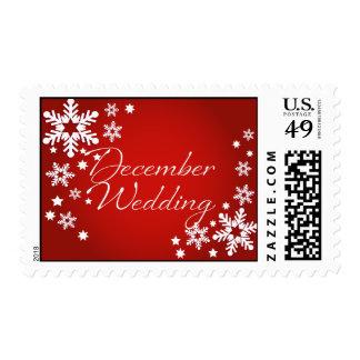 Bastón de caramelo • Boda de diciembre Timbres Postales