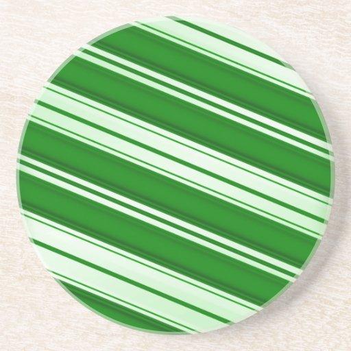 Bastón de caramelo de la menta verde posavasos manualidades