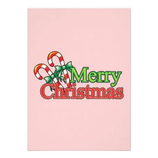Bastón de caramelo de las Felices Navidad Anuncios