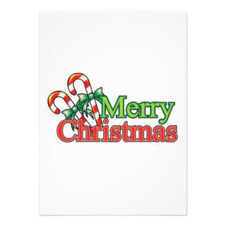 Bastón de caramelo de las Felices Navidad Comunicados Personales