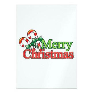 Bastón de caramelo de las Felices Navidad Anuncios Personalizados