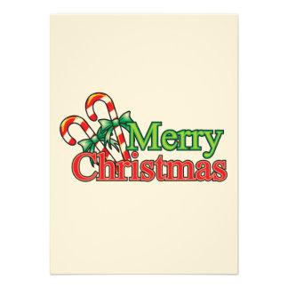 Bastón de caramelo de las Felices Navidad Comunicado
