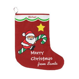 Bastón de caramelo de Papá Noel personalizado