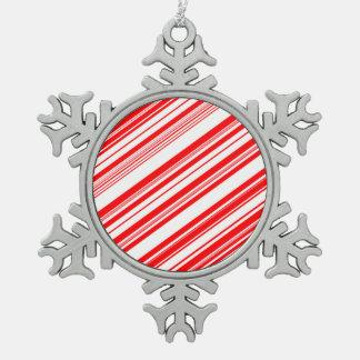 Bastón de caramelo de Yuletide para Brenda Adorno De Peltre En Forma De Copo De Nieve