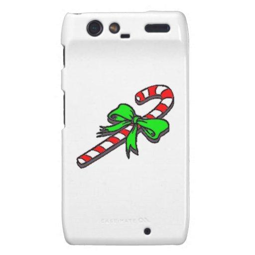 Bastón de caramelo del navidad droid RAZR funda