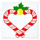 Bastón de caramelo del navidad invitación