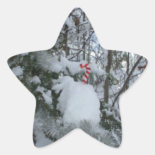 Bastón de caramelo del navidad colcomanias forma de estrellaes personalizadas